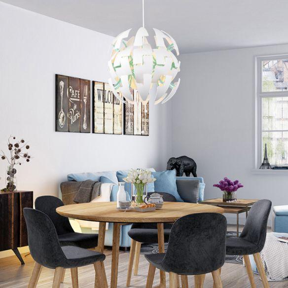 Metallic Exploding Pendant Hanging Light Single Light Contemporary Suspension Lamp in Green/Orange/White Pendant Lights xxbpj