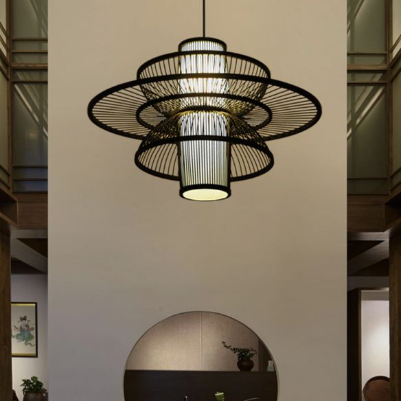 Lotus Shaped Pendant Lamp Asian Style, Asian Style Hanging Lamps