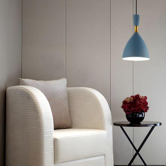 Restaurant Cloth Shop Funnel Pendant Lighting Aluminum 1 Head Macaron Loft Suspension Light Pendant Lights 6phZS
