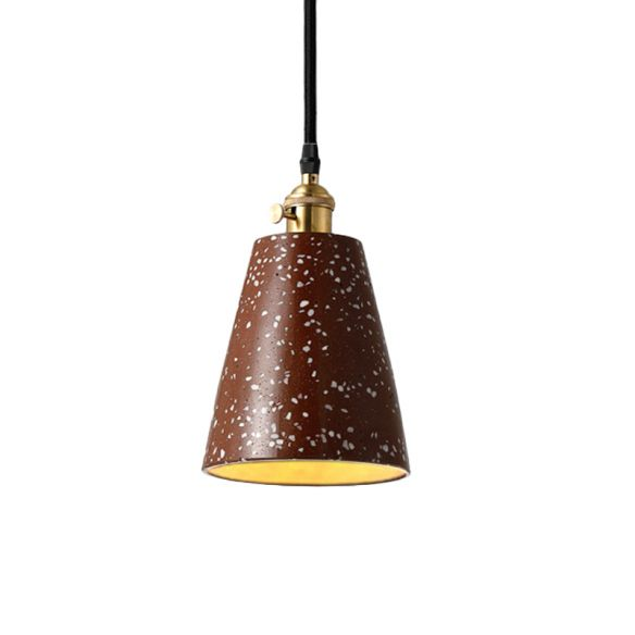 Cone Pendant Lighting in Nordic Style Cement 1 Light Black/Grey/White Hanging Light Pendant Lights alK18