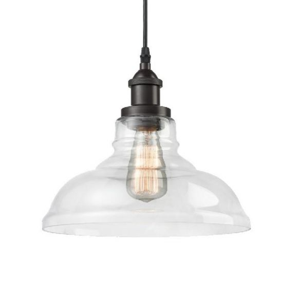 Black 1 Light Pendant Lighting Industrial Clear Glass Barn Hanging Lamp for Indoor Pendant Lights xmQAo