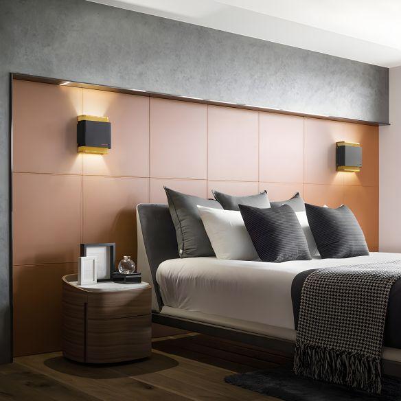 Metal Black/White Flush Mount Square LED Colonialism Sconce Light Fixture for Living Room Wall Lamps & Sconces rrXOc