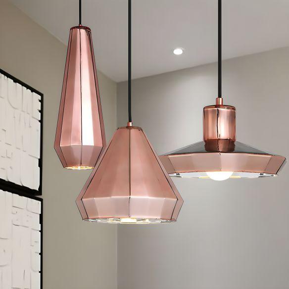 Rose Gold Mini Pendant Light over Bar Counter 1 Light Post Modern Metal Ceiling Lamp Pendant Lights mgfDa