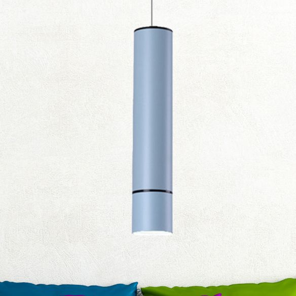 Nordic 1 Light Suspension Light with Metal Shade Pink/Blue/Green Pipe Ceiling Pendant Light in White/Warm/Natural Light Pendant Lights d6tge