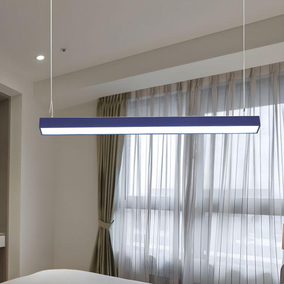 Yellow/Green/Blue Rectangular Linear Pendant Lighting Minimal Led Metal Hanging Lamp for Office Pendant Lights o3jyL