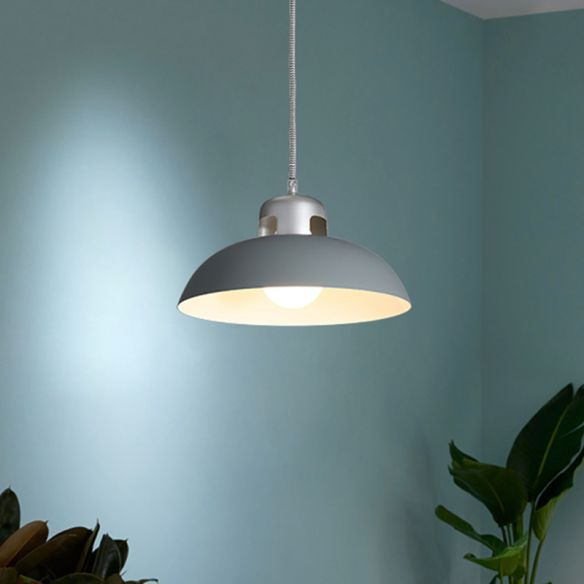 Flared Metal Pendant Light Modernism 1 Head Black/Grey Ceiling Suspension Lamp for Dining Room Pendant Lights 7n68y