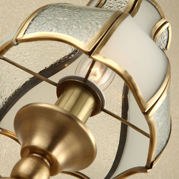 Curved Metal Sconce Light Traditionalism 1-Bulb Living Room Wall Light Fixture in Brass Wall Lamps & Sconces SFnrk