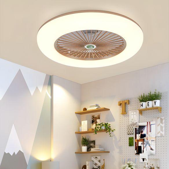 """doughnut metal fan light fixture simple bedroom 215"""" w"""