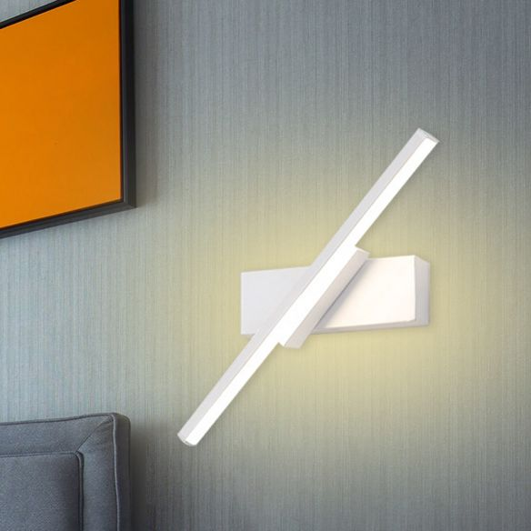 Slim Linear Acrylic Wall Light Sconce Modern White/Black LED Wall Mounted Lamp in White/Warm Light Wall Lamps & Sconces DfTWE