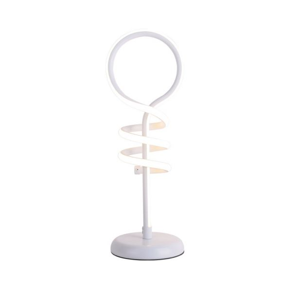 White Lollipop Desk Light Contemporary LED Acrylic Reading Lamp with Spiral Design in Warm/White Light Table Lamps CjuRf