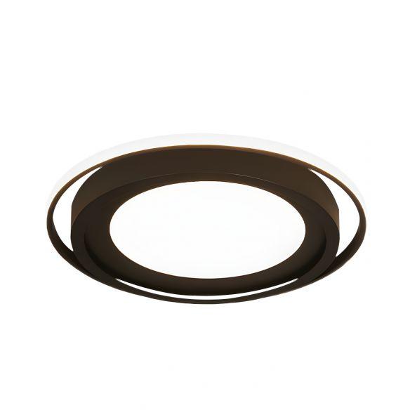 Acrylic Round Flush Lighting Modern LED Flush Mount in White/Black for Bedroom, White/Warm Light Close To Ceiling Lights o8onl