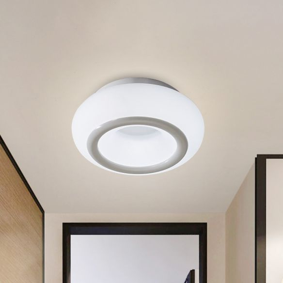 White Bean LED Ceiling Lamp Simplicity Acrylic Flush Mount Lighting in 3 Color Light Close To Ceiling Lights 4xD3h