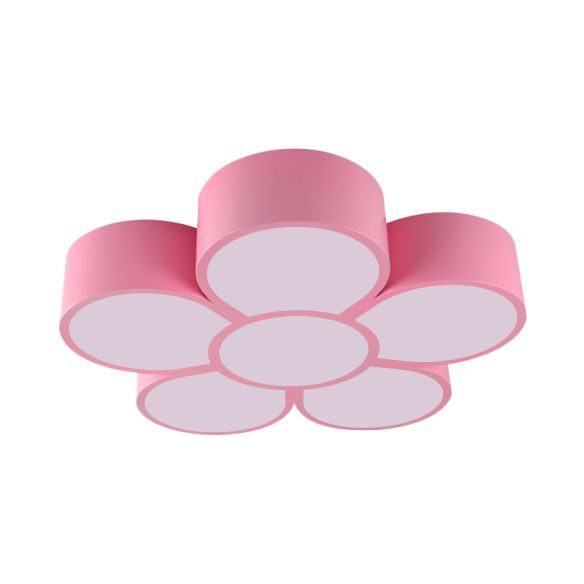 Yellow/Red/Pink Floral Ceiling Lighting Kids Style Acrylic LED Flush Mount Fixture for Living Room Close To Ceiling Lights aWPsQ