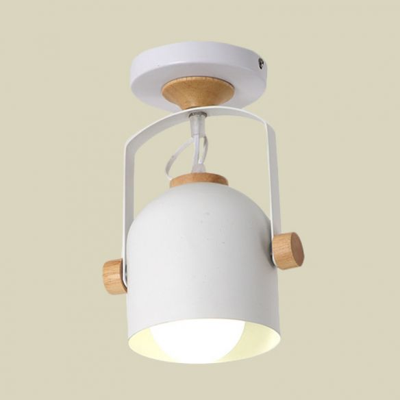 1 Light Cup Shade Flush Ceiling Light Rotatable Macaron Loft Metallic Ceiling Lamp for Bathroom Close To Ceiling Lights mtkrK