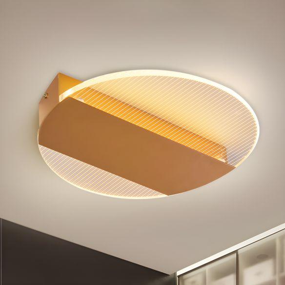 Geometrical Flushmount Lighting Minimal Acrylic Black/White/Gold LED Ceiling Flush in White/Warm Light Close To Ceiling Lights nypiq